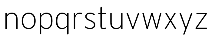 Interstate Condensed Extra Light Font LOWERCASE