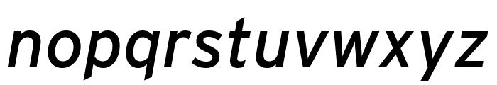 Interstate Condensed Italic Font LOWERCASE