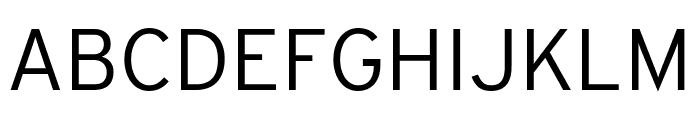 Interstate Condensed Light Font UPPERCASE