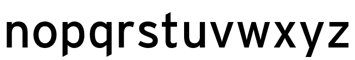 Interstate Condensed Regular Font LOWERCASE