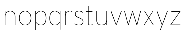 Interstate Condensed Thin Font LOWERCASE