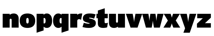Interstate Condensed Ultra Black Font LOWERCASE