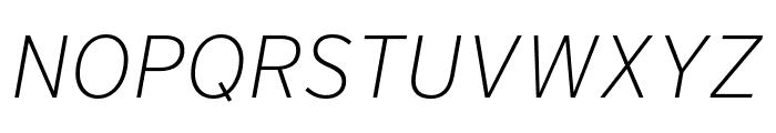 Interstate Extra Light Italic Font UPPERCASE