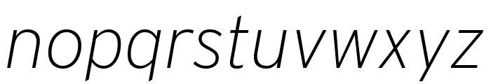 Interstate Extra Light Italic Font LOWERCASE