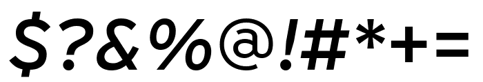Interstate Italic Font OTHER CHARS