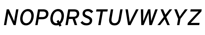 Interstate Italic Font UPPERCASE