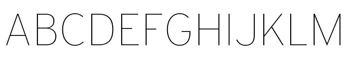 Interstate Thin Font UPPERCASE