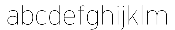 Interstate Thin Font LOWERCASE