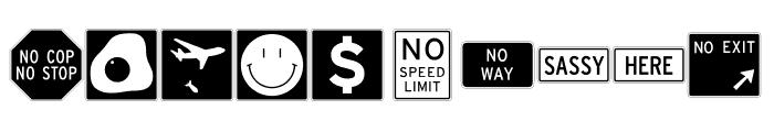 InterstatePi Three Font OTHER CHARS