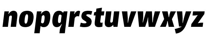 Iro Sans Extrabold Slanted Font LOWERCASE