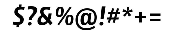 Iro Sans Semibold Slanted Font OTHER CHARS