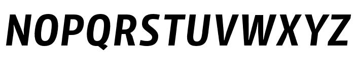 Iro Sans Semibold Slanted Font UPPERCASE