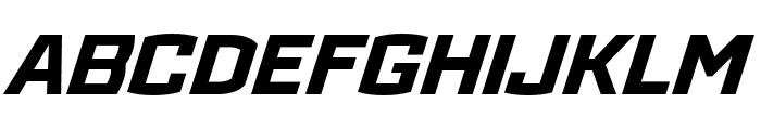 Ironstrike Extra Bold Italic Font UPPERCASE