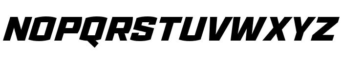 Ironstrike Stencil Black Italic Font UPPERCASE