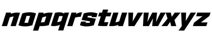 Ironstrike Stencil Black Italic Font LOWERCASE