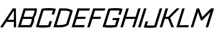 Ironstrike Stencil Regular Italic Font UPPERCASE