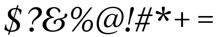 IvyJournal Italic Font OTHER CHARS