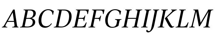 IvyJournal Italic Font UPPERCASE