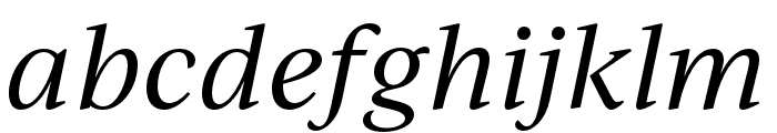IvyJournal Italic Font LOWERCASE