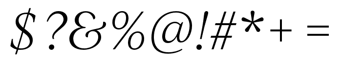 IvyJournal Light Italic Font OTHER CHARS