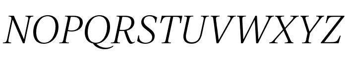 IvyJournal Light Italic Font UPPERCASE