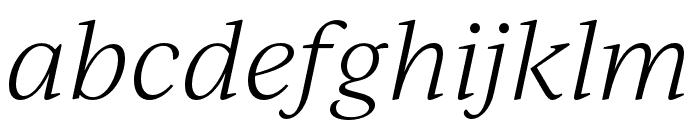 IvyJournal Light Italic Font LOWERCASE