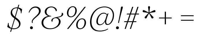 IvyJournal Thin Italic Font OTHER CHARS