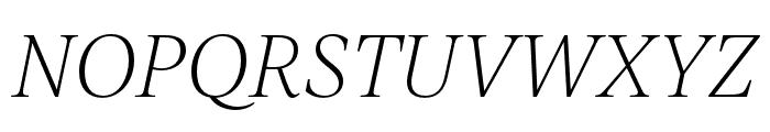 IvyJournal Thin Italic Font UPPERCASE
