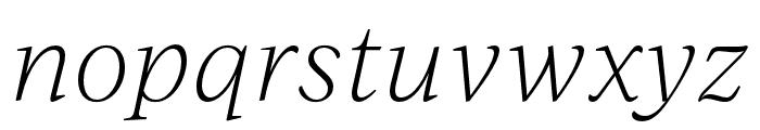 IvyJournal Thin Italic Font LOWERCASE