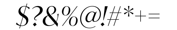 IvyMode Italic Font OTHER CHARS