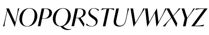 IvyMode Italic Font UPPERCASE