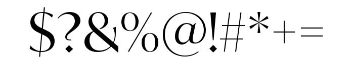 IvyMode Regular Font OTHER CHARS