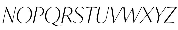 IvyMode Thin Italic Font UPPERCASE