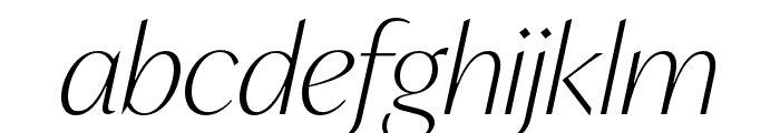 IvyMode Thin Italic Font LOWERCASE