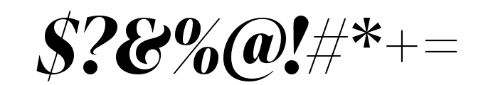 IvyPresto Display Bold Italic Font OTHER CHARS