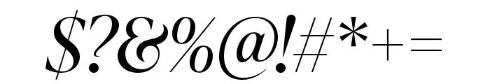 IvyPresto Display Italic Font OTHER CHARS