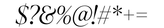 IvyPresto Display Light Italic Font OTHER CHARS