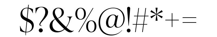IvyPresto Display Light Font OTHER CHARS