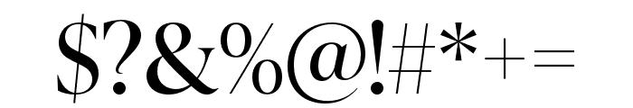 IvyPresto Display Regular Font OTHER CHARS