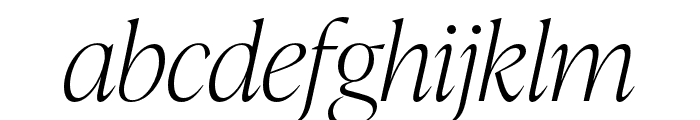 IvyPresto Display Thin Italic Font LOWERCASE