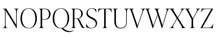 IvyPresto Display Thin Font UPPERCASE