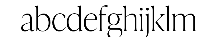 IvyPresto Display Thin Font LOWERCASE