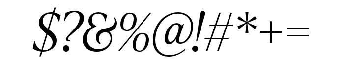 IvyPresto Headline Light Italic Font OTHER CHARS