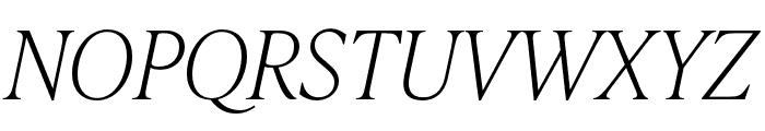IvyPresto Headline Thin Italic Font UPPERCASE