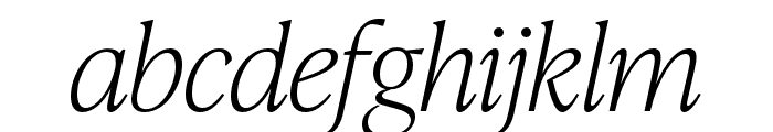 IvyPresto Headline Thin Italic Font LOWERCASE