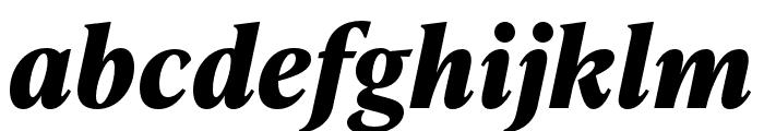 IvyPresto Text Bold Italic Font LOWERCASE