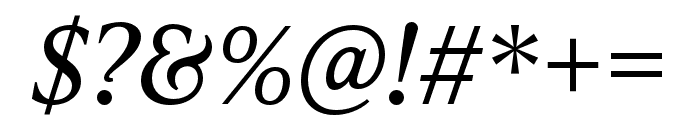 IvyPresto Text Italic Font OTHER CHARS