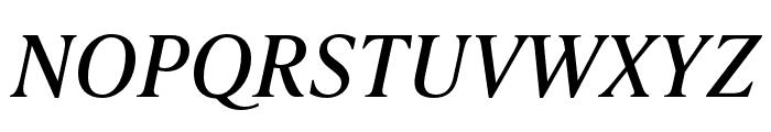 IvyPresto Text Italic Font UPPERCASE