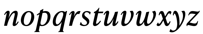 IvyPresto Text Italic Font LOWERCASE