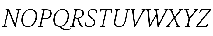 IvyPresto Text Thin Italic Font UPPERCASE
